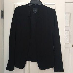 Trouve S draped open black blazer